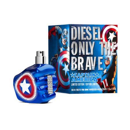 Diesel Only the Brave Captain America Man (Дизель. Только для храбрых. Капитан Америка). Туалетная вода (eau de toilette - edt) мужская / Одеколон (eau de cologne - edc)