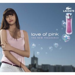Lacoste Love of Pink. Парфюмерная вода (eau de parfum - edp) и туалетные духи (parfum de toilette) женские